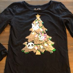 Children's Place Shirts & Tops - Toddler Girl Children's Place Holiday Shirt